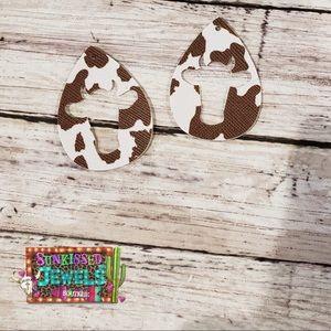 Jewelry - ✨New✨Cowhead Cutout Earrings!